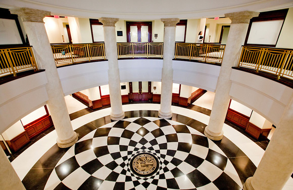 Inside view of a court facility