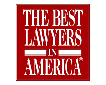 The best lawyers in america logo in red